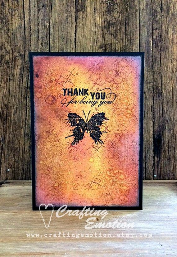 Handmade Thank You Card One of a kind card by Crafting Emotion