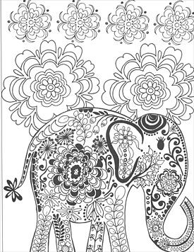39 best coloring pages (elephants) images on pinterest | animals ... - Coloring Page Elephant Design