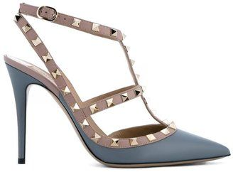 Valentino Garavani Leather Rockstud Pumps - $995.00