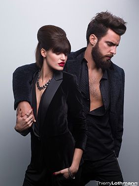 Thierry Lothmann collection Photos : D.R. Coiffure, mariage, brune, waves, vagues, tendances, hipster, barbe