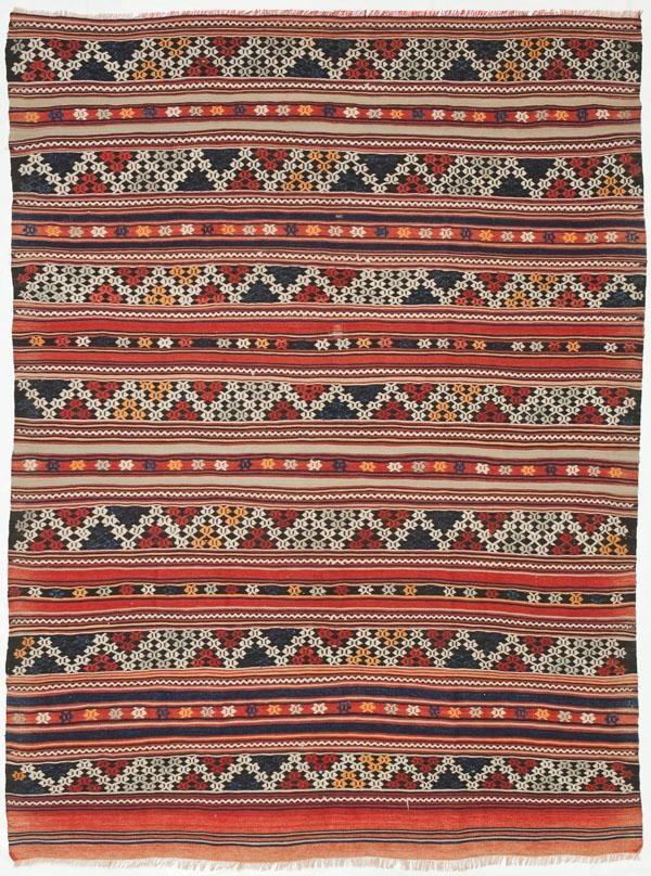 """Russian Kilim 5'9""""x6'10"""": Kilim Rugs, Dhurry Rugs, Tribal Rugs, Flatweave Rugs - ABC Carpet & Home"""