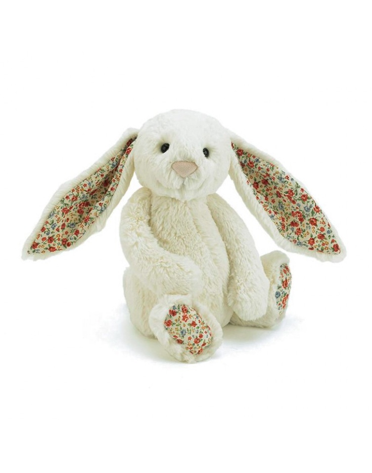 JELLYCAT | Medium Cream Bashful Bunny Blossom | Learning and Playtime | kinderelo.co.za
