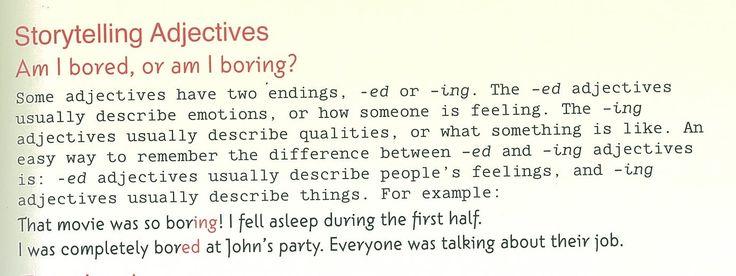 Am I bored? - Am I boring? Participle Adjectives - Storytelling Adjectives