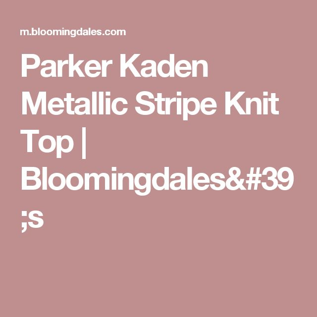 Parker Kaden Metallic Stripe Knit Top | Bloomingdales's