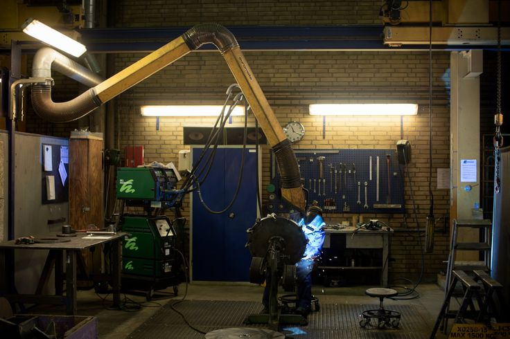 A welder at work at the Danish machinery manufacturer Sjorring. More than a third of companies in this industrial and technically advanced nation can no longer recruit enough skilled workers to fill posts. Credit Tor Birk Trads for The New York Times