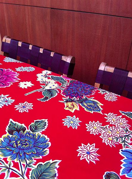 I've found more than 50 festive Mexican oilcloth designs to sell in the Las Niñas Textiles online store. http://lasninastextiles.com/product-category/oilcloth-3/