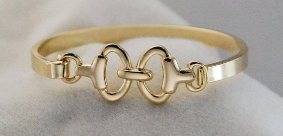 Gold Horse Bit Bracelet-Lucky Pony Shop  https://www.etsy.com/listing/185937983/horse-bit-braceletgold-bit-bangle