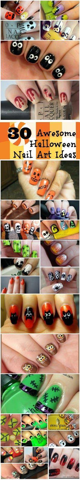 Fashion Pics Blog: 30 Awesome Halloween Nail Art Ideas ...