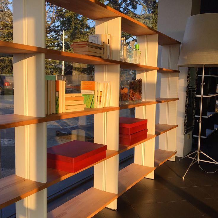 Sunset in the Piarotto Showroom   Brand new Nikka Bookcase #bookcase #interiordesign