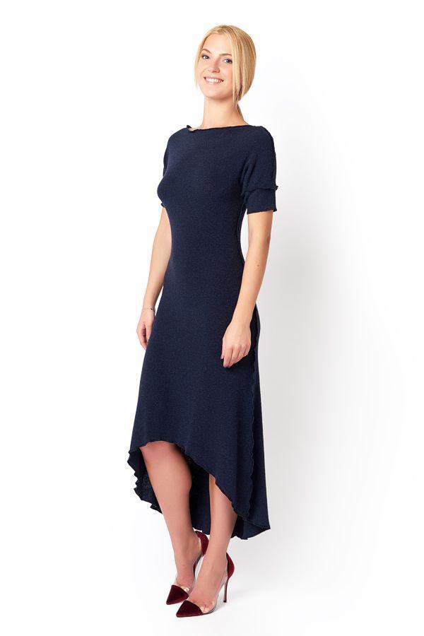 Платье асимметричное (короткий рукав)