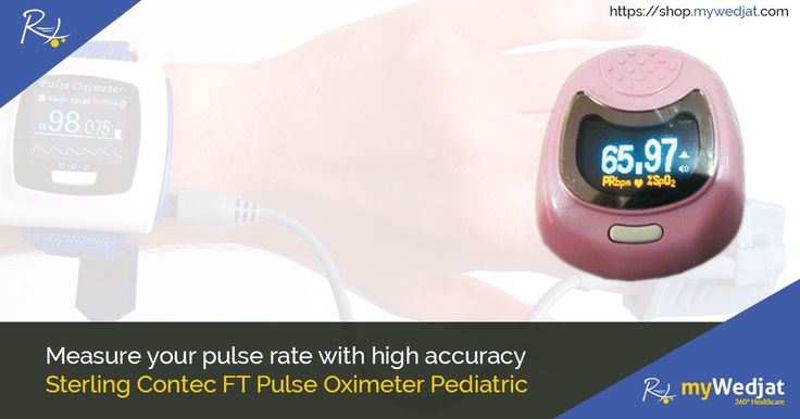 Measure your pulse rate with high accuracy Sterling Contec FT Pulse Oximeter Pediatric. #PulseMeter #myWedjat