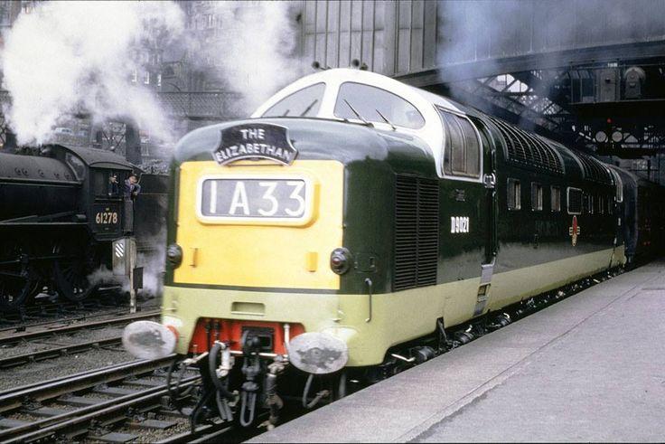 D9021 at Edinburgh Waverley on 24th June 1962.