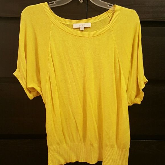 Loft Batwing Top Yellow top from Loft. Still in great condition, no stains or holes. LOFT Tops Tees - Short Sleeve