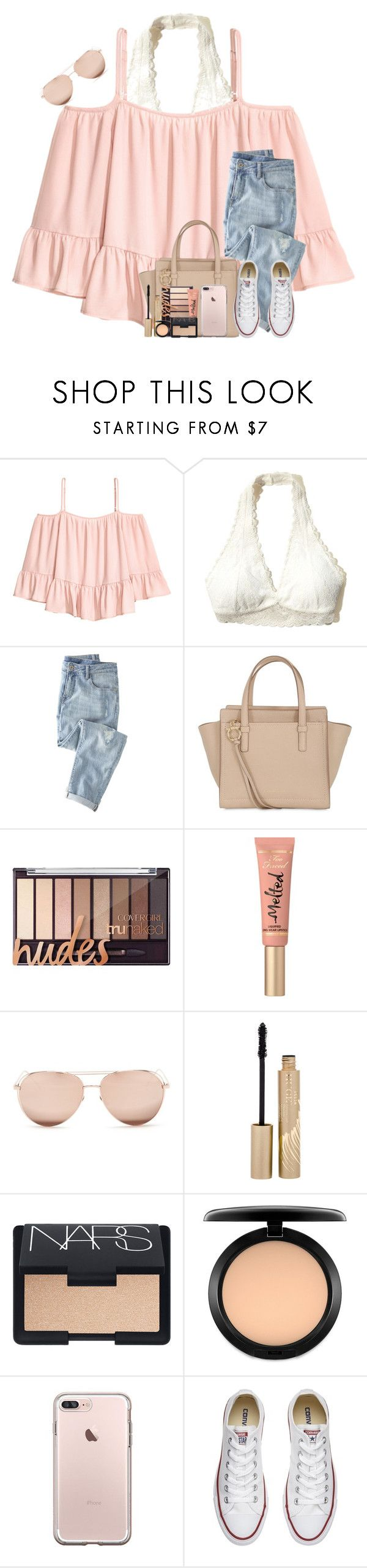 Blizzard Coming Tonight!!❄️❄️ by theafergusma ❤ liked on Polyvore featuring Volant, Hollister Co., Wrap, Salvatore Ferragamo, Too Faced Cosmetics, Linda Farrow, Stila, NARS Cosmetics, MAC Cosmetics and Converse