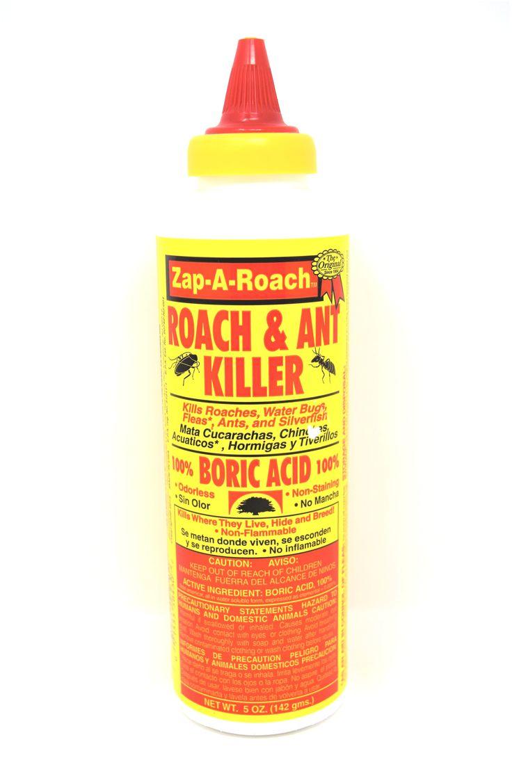 Zap-A-Roach Roach & Ant Killer 100% Boric Acid, 5 oz.