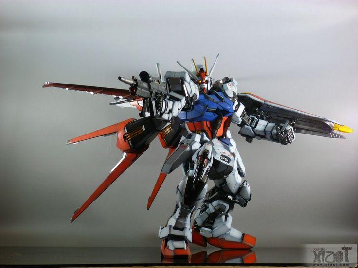 GUNDAM GUY: PG 1/60 GAT-X105 Strike Gundam w/ Aile Strike Pack - Painted Build