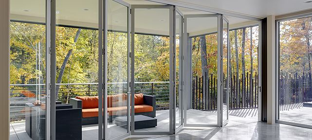 27 best images about folding glass doors on pinterest for Exterior folding glass doors