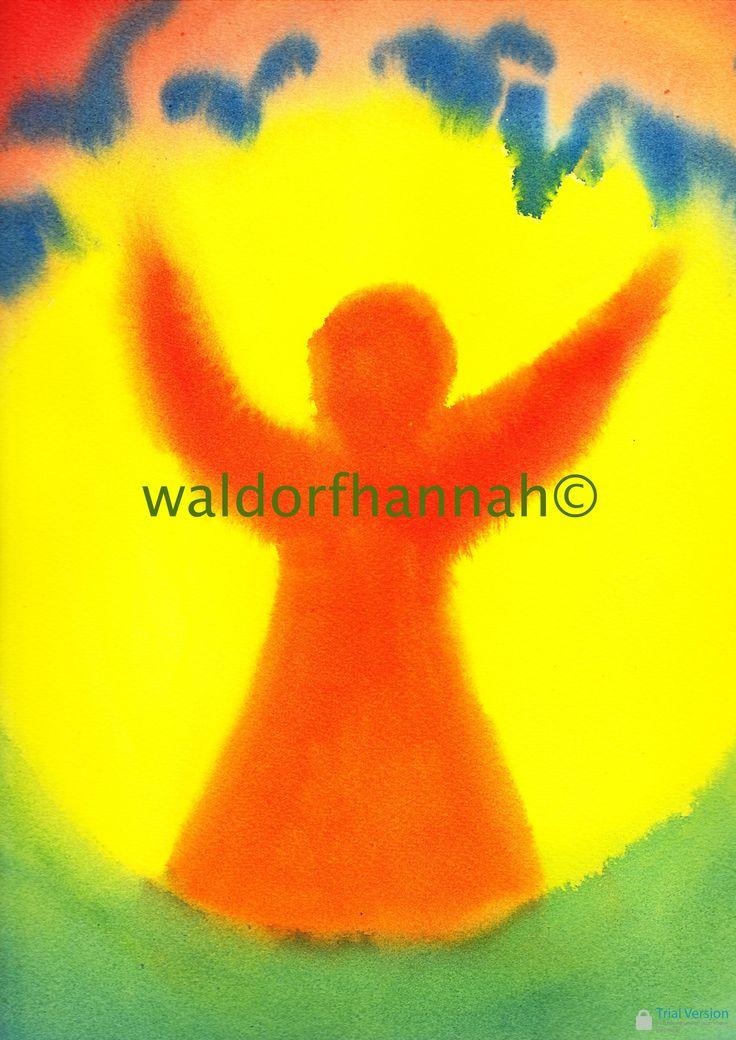 Age 08 ~ Saint Stories ~ Saint Jerome ~ watercolor painting