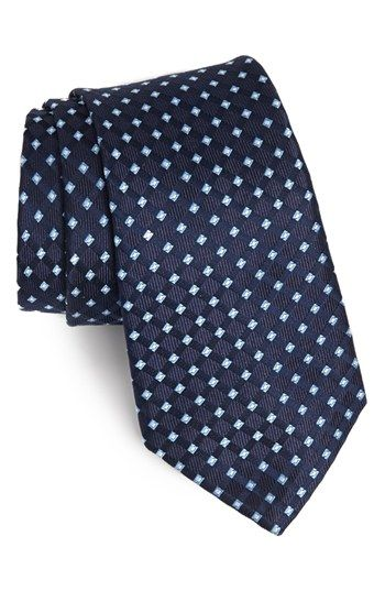 $49, Woven Silk Tie Navy Regular by Nordstrom. Sold by Nordstrom. Click for more info: http://lookastic.com/men/shop_items/98877/redirect
