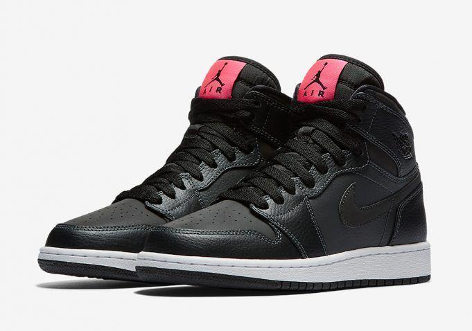 Air Jordan 1 High GS Black Pink 332148-004 - Sneaker Bar Detroit