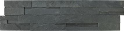 Ledgerstone in Carbon stone mosaic backsplash by Elements from International Wholesale Tile | On display at Carpet One Floor & Home in Ocala & The Villages, Fl