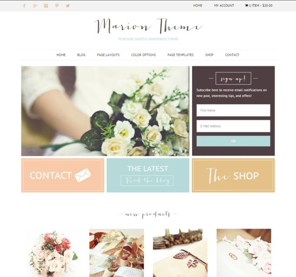 Check out Ecommerce feminine genesis theme Mar by Lovely Confetti on Creative Market #WordPress