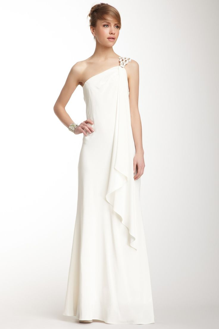 A b s by allen schwartz one shoulder dress cute for Cute dresses for a wedding reception