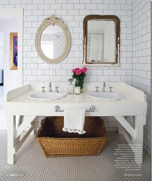 Ziemlich Bathroom Cabinets: Anna Spiro Bathroom In Lonny, Subway Tile With Hex, Love