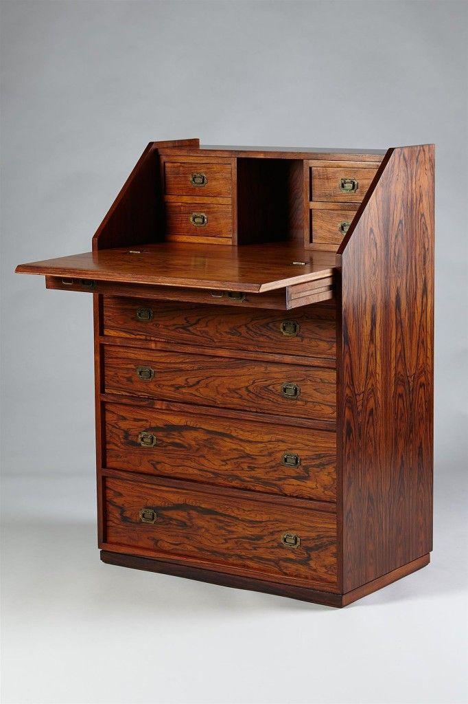 Small bureau designed by Henning Korch, Denmark. 1950's.