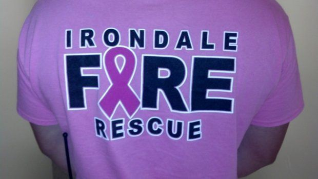 Irondale Fire Department joins the fight against breast cancer. #trueheroes #gettheshirt