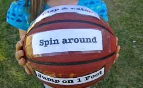 physical activity ball for this summer - maybe on a beach ball?