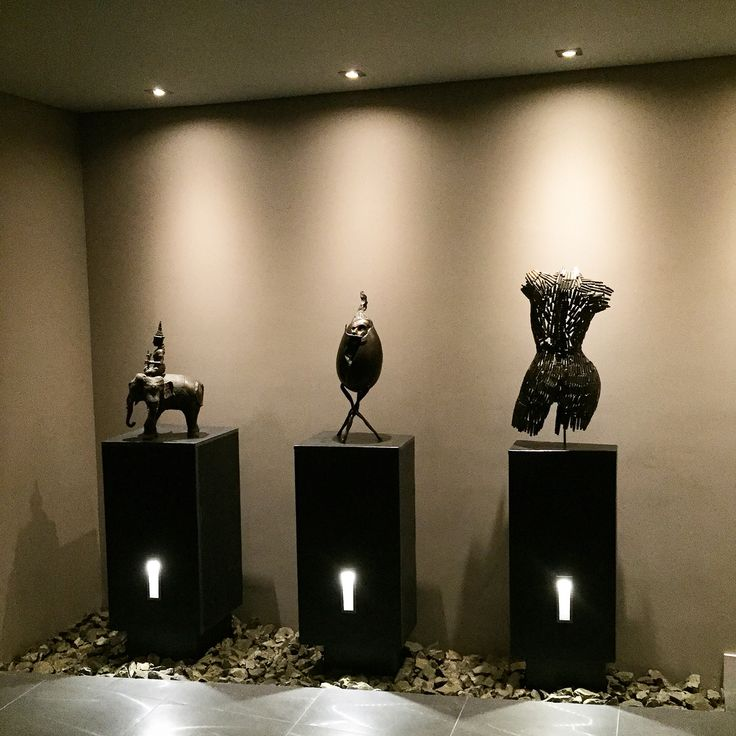 Pyrite and sculptures