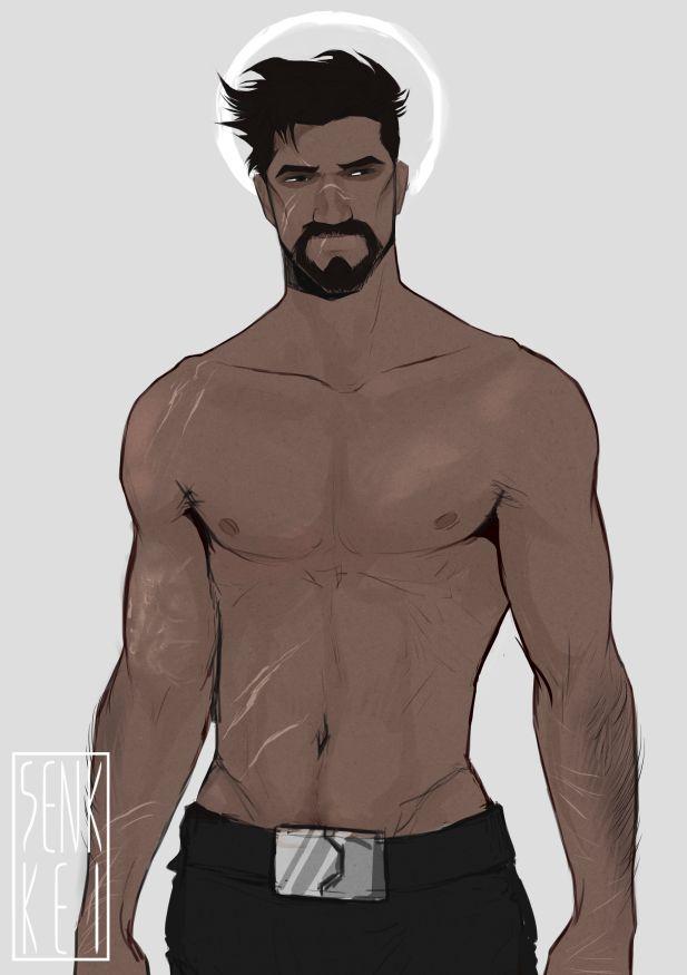 "senkkeidraws: ""calling attention to: reaper's waist """