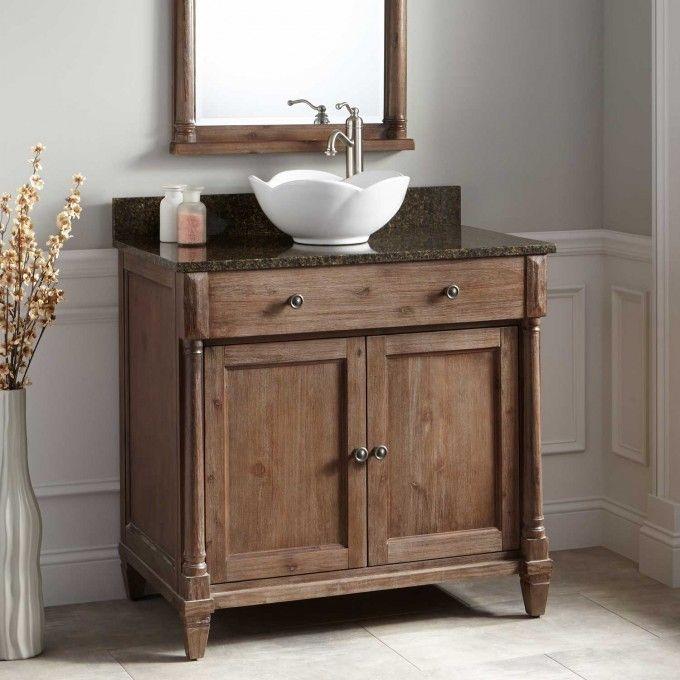 23 best powder room images on pinterest powder rooms for Bobs furniture bathroom vanity