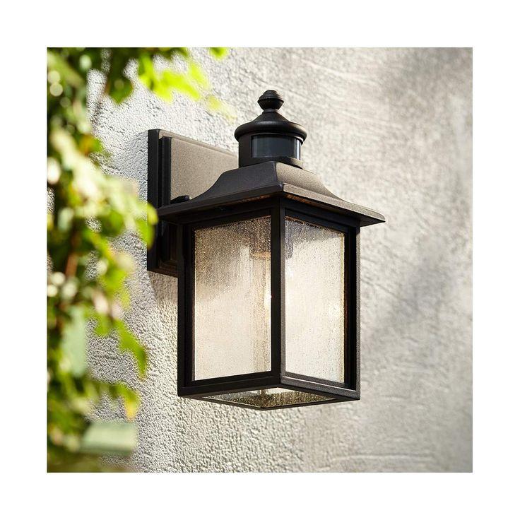 Moray Bay 11 1 2 H Black Motion Sensor Outdoor Wall Light 42f25 Lamps Plus Outdoor Wall Lighting Wall Lights Led Outdoor Wall Lights