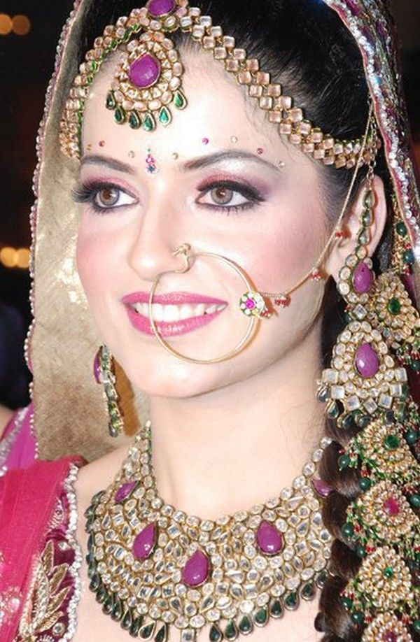 Unique Bridal Makeup : 93 best images about All about the nose rings on Pinterest