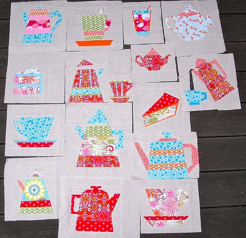 28 best Paper Pieced Quilt: Tea and Cookies images on Pinterest ... : tea time quilting - Adamdwight.com