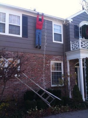 Ha, funny Christmas decoration!