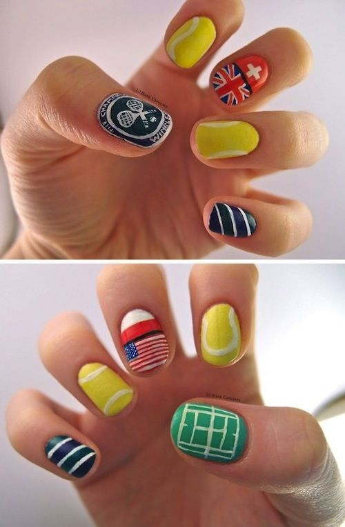 10 best tennis nails images on pinterest nail art nail designs wimbledon inspired manis courtesy of pinterest because tennis is where the chic is at prinsesfo Image collections