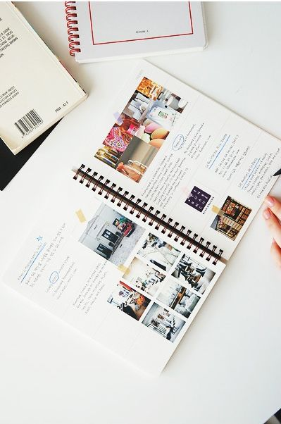 This looks like a good way to journal when trying to make a particular decision. For example: when trying to decide on living room decor you could list what you want/don't want and some inspiration pictures.