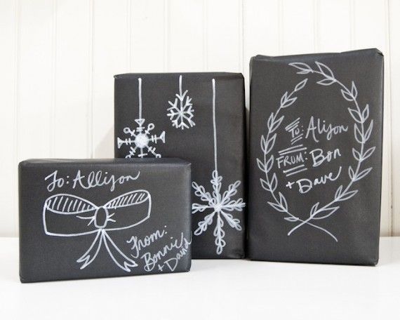 Chalkboard wrapping paper!
