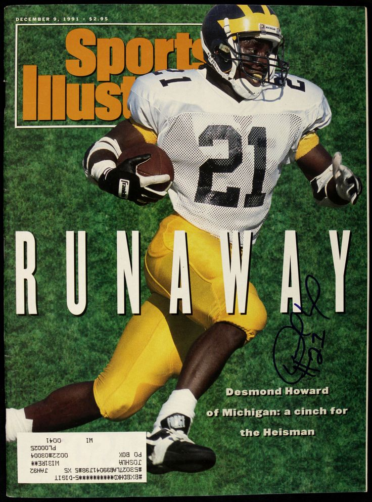 1991 Desmond Howard After Michigan toppled Ohio State he won the Heisman Trophy