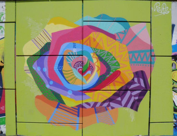 Traçant el futur de color esperança. ¡Sí se puede!  Platja del Miracle, TGN, 2014