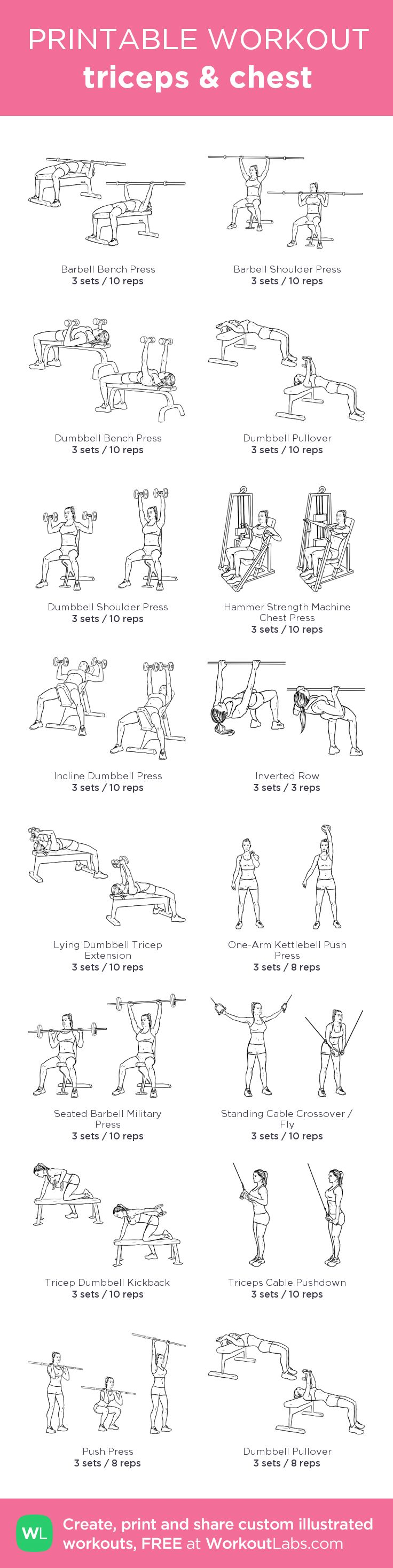 triceps & chest: custom printable workout .. We're helping thousands of Ladies (Just like You) Get Fit & Sexy