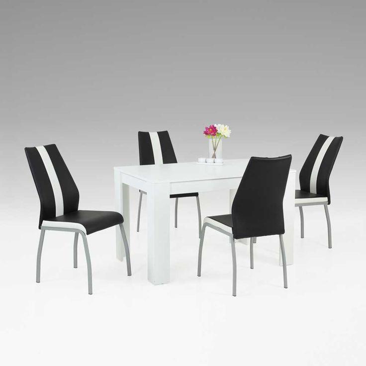 Esstisch Mit Stühlen In Weiß Schwarz Modern (5 Teilig) Jetzt Bestellen  Unter: Https://moebel.ladendirekt.de/kueche Und Esszimmer/tische/esstische/?uidu003d  ...