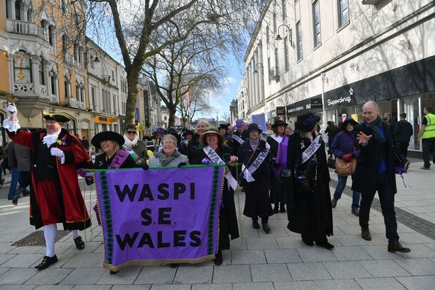 'Suffragettes' took over Cardiff city centre in protest over changes to state pensions - Wales Online