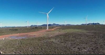 The first large scale wind farm in South Africa