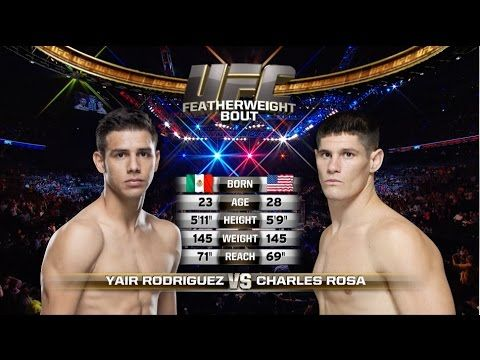 Fight Night Phoenix Free Fight: Yair Rodriguez vs Charles Rosa