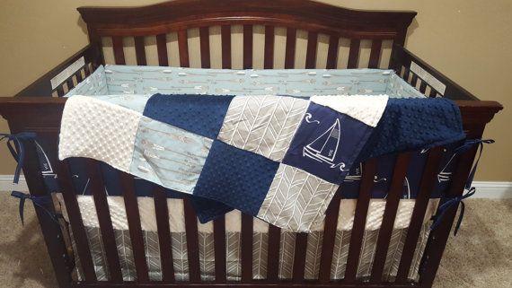Nautique literie de bébé lit bateau à voile par DesignsbyChristyS