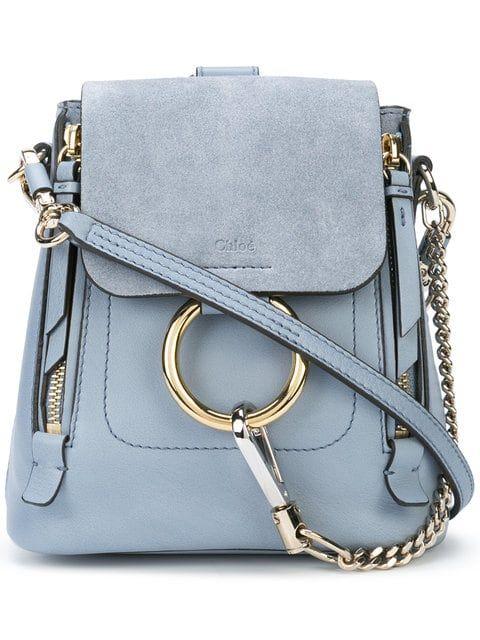 3b2df708a3 Shop Chloé mini Faye backpack.